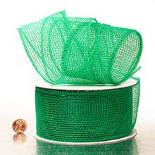 Emerald Deco Mesh Ribbon Colored - 2-1/2 X 20 Yards - Polypropylene / Cellophane - Wraps by Paper Mart