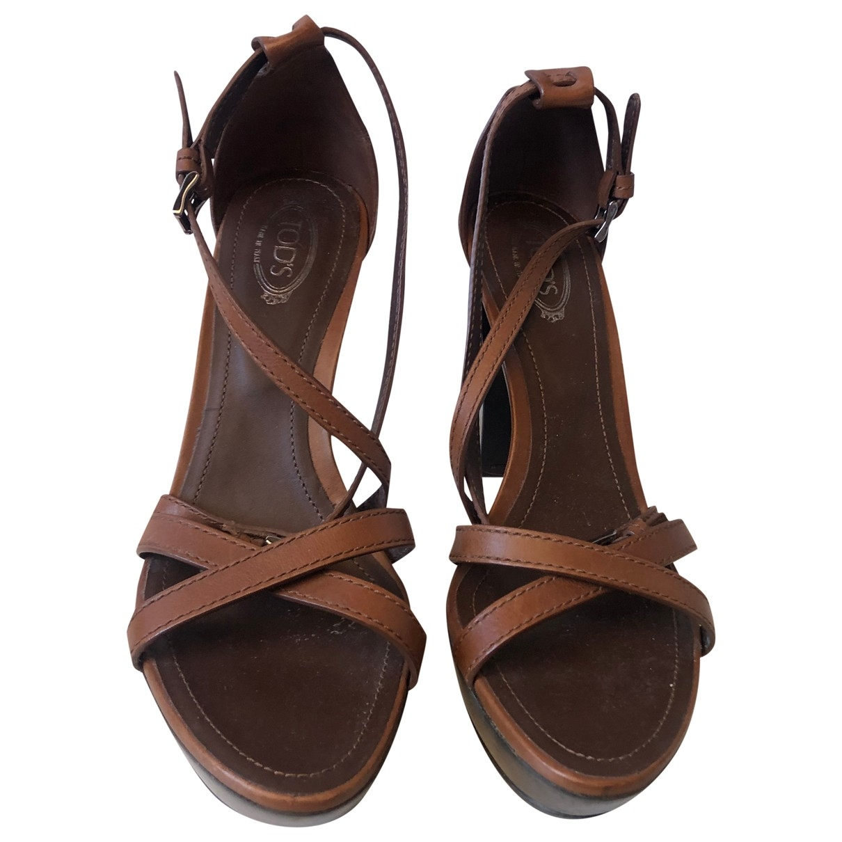 Tod's \N Camel Leather Sandals for Women 36.5 EU