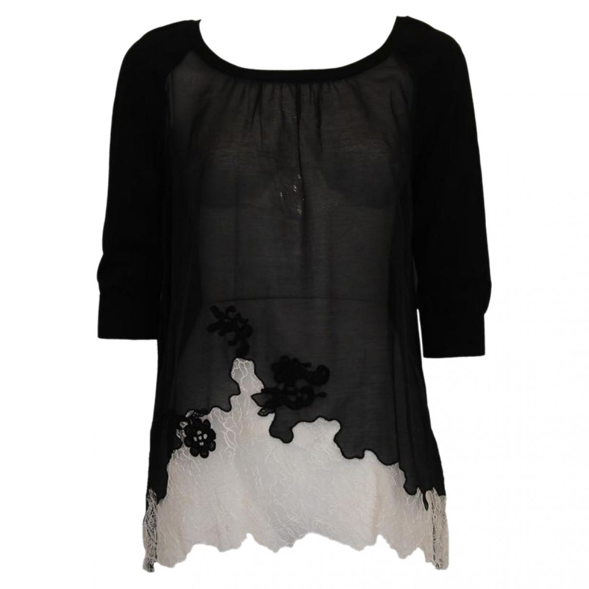 Blumarine \N Black Cotton Knitwear for Women One Size International