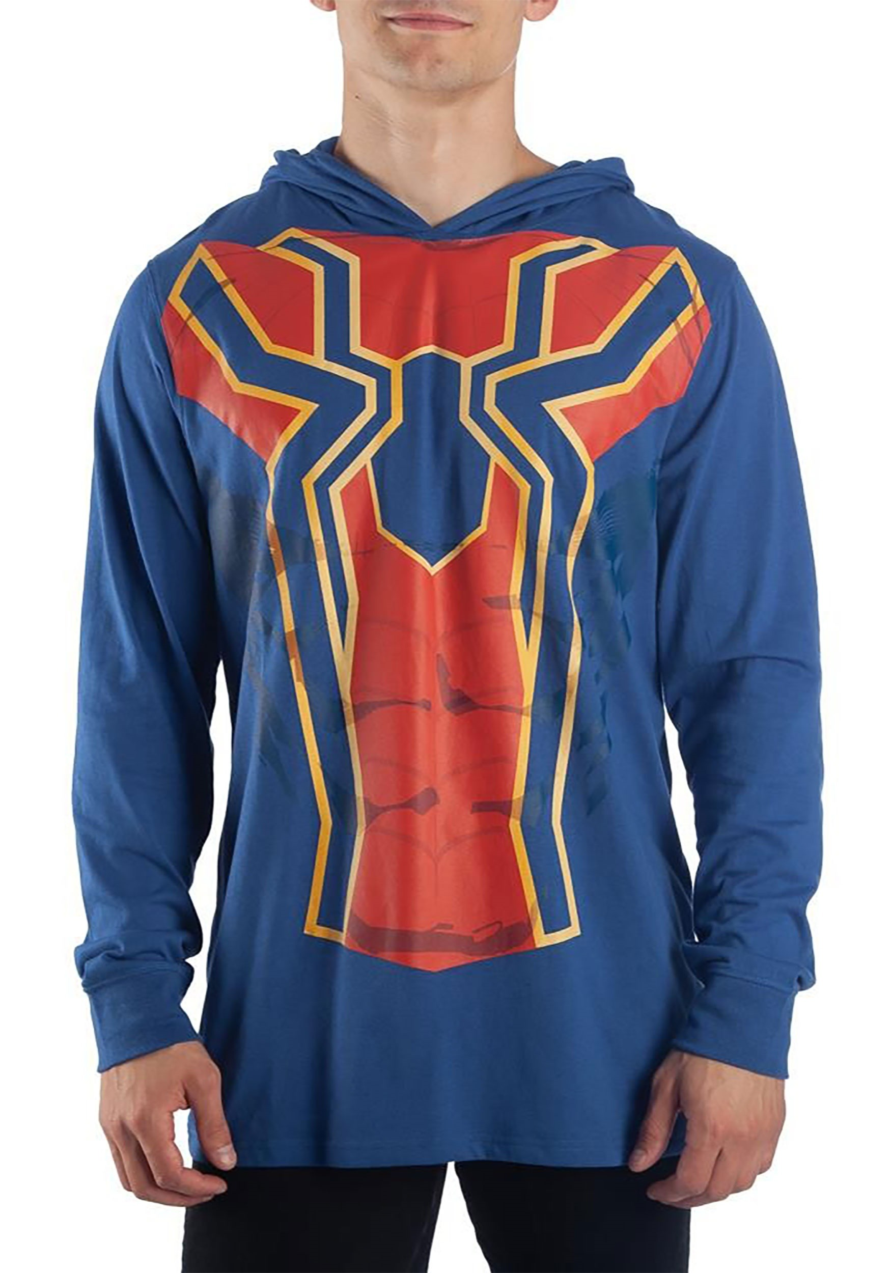 Men's Iron Spider Cosplay Light Weight Hoodie Costume