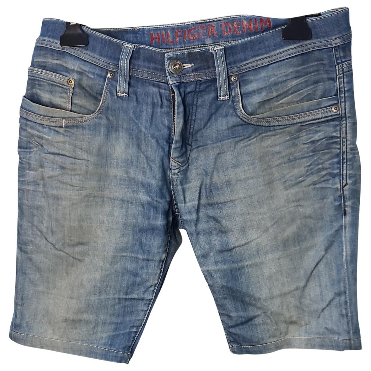 Tommy Hilfiger \N Blue Cotton Shorts for Men 34 UK - US