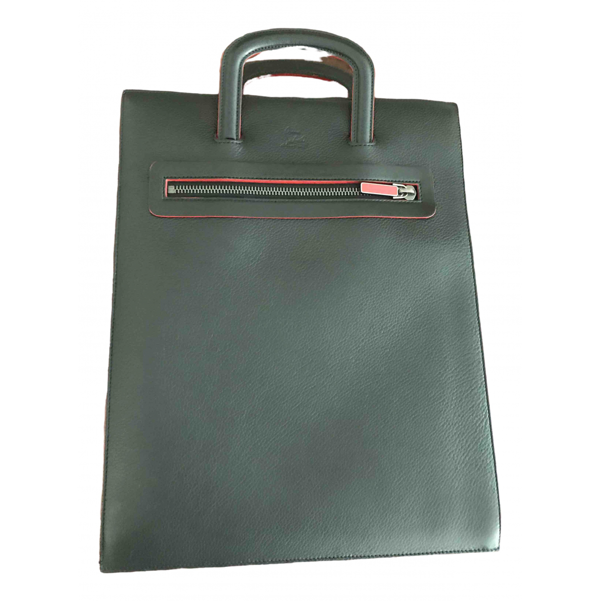 Christian Louboutin \N Black Leather bag for Men \N