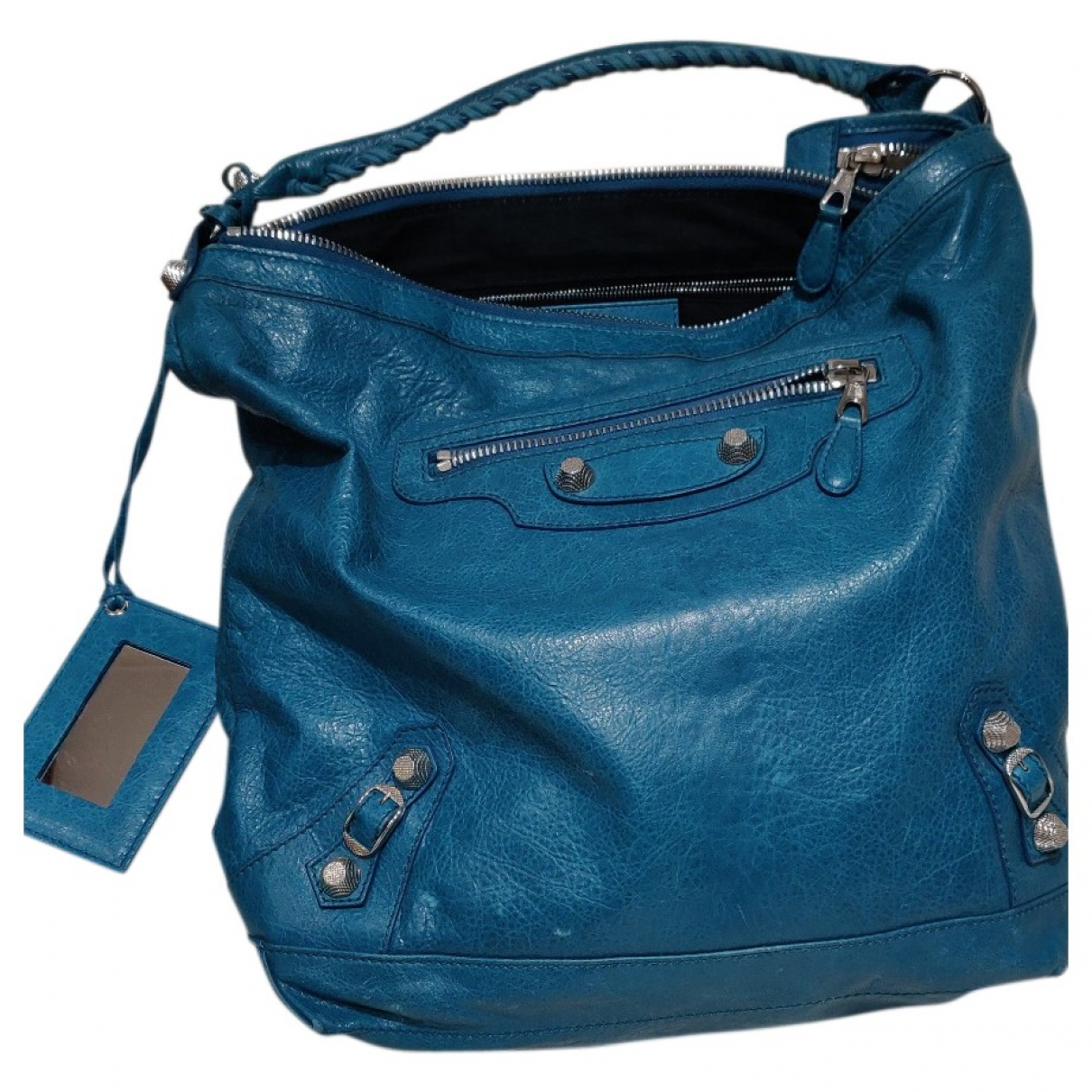 Balenciaga Day  Turquoise Leather handbag for Women \N