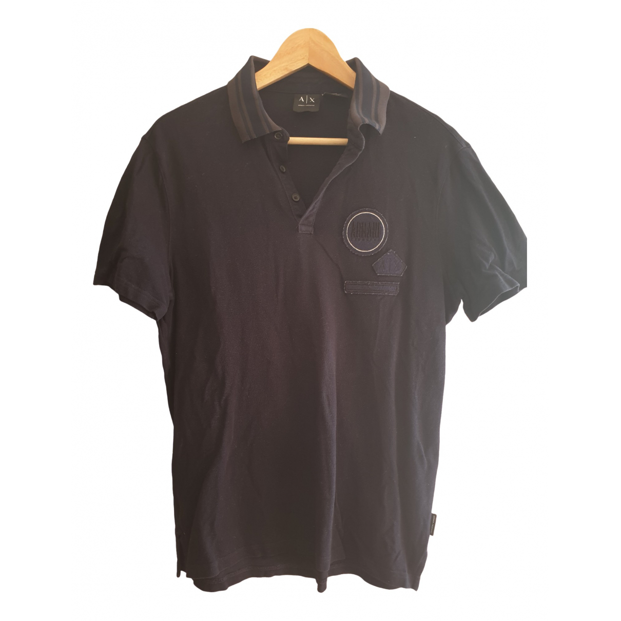 Emporio Armani \N Blue Cotton Polo shirts for Men M International
