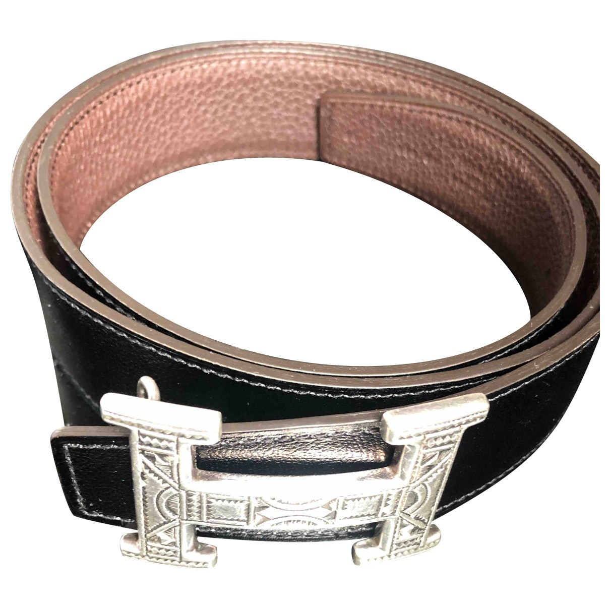 Hermès H Brown Leather belt for Men 85 cm