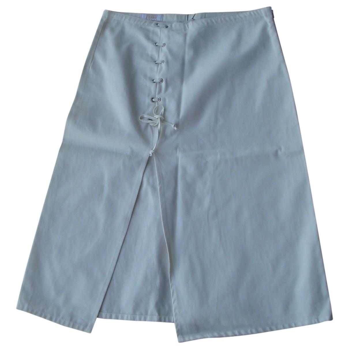 Gianfranco Ferré \N Ecru Cotton skirt for Women 42 IT