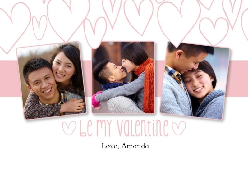 Valentine's Cards 5x7 Cards, Premium Cardstock 120lb, Card & Stationery -Valentine's Day Hearts