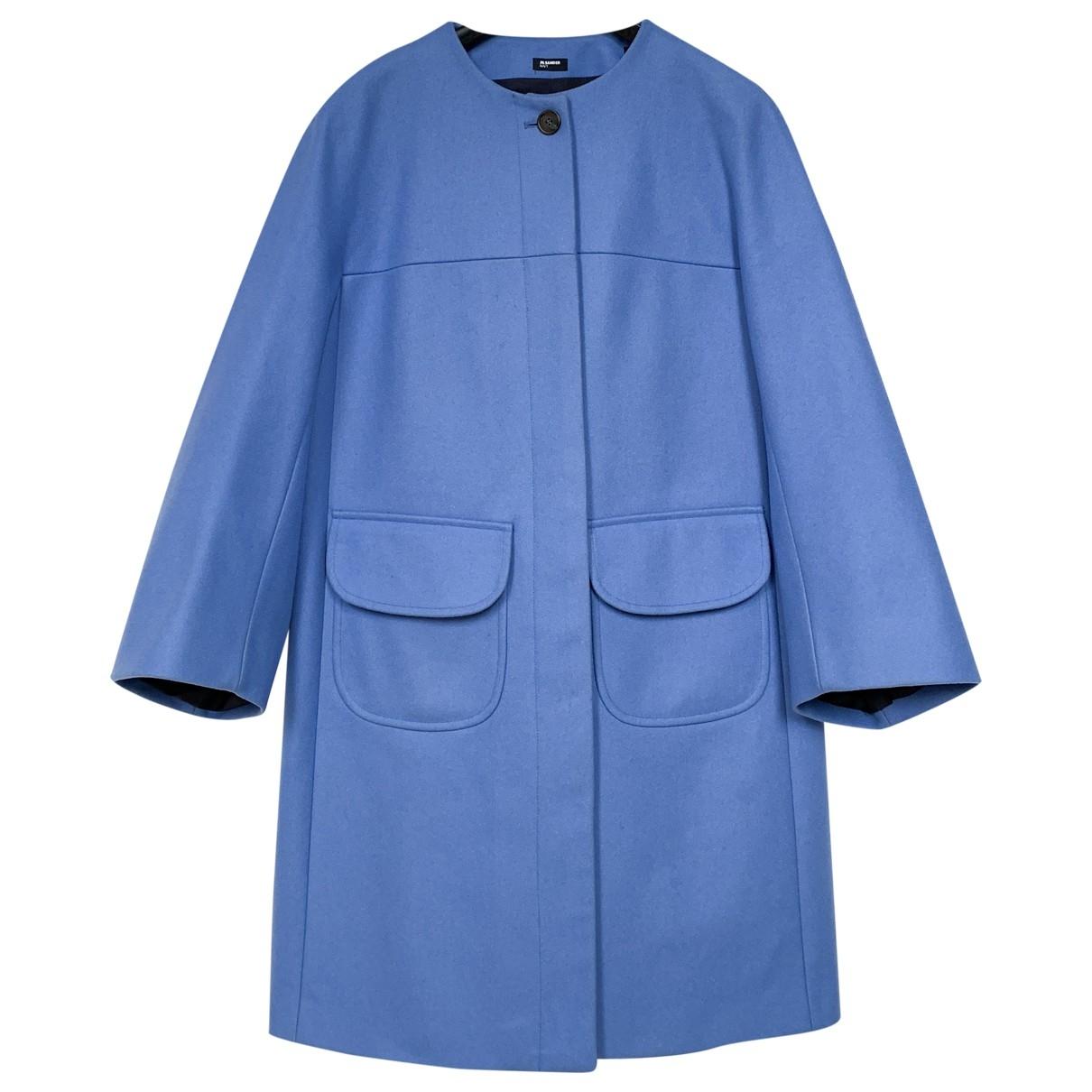 Jil Sander \N Blue Wool coat for Women M International