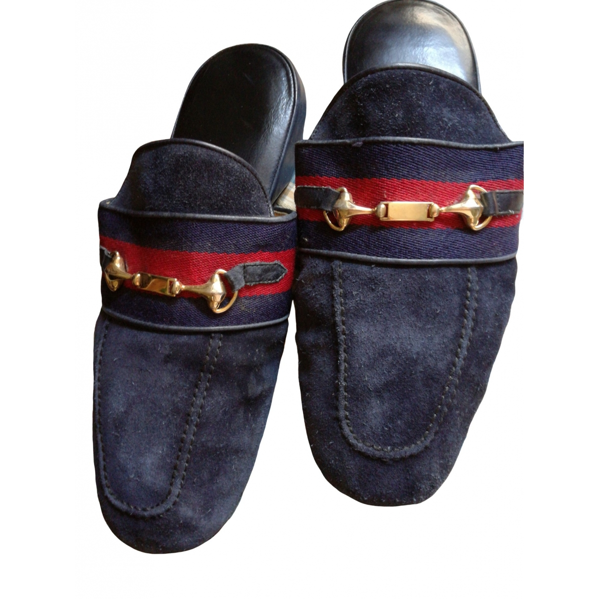 Gucci \N Blue Suede Flats for Men 42 EU