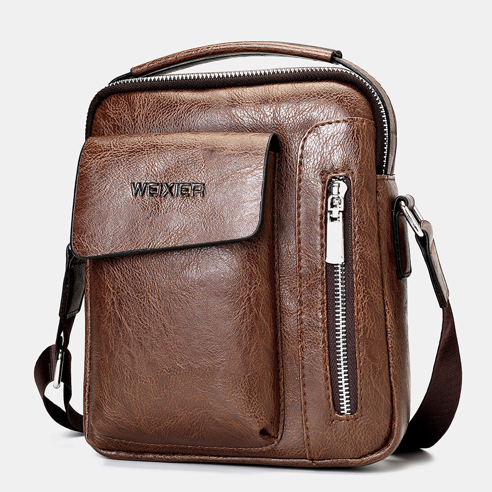 Men Casual Solid Crossbody Bag