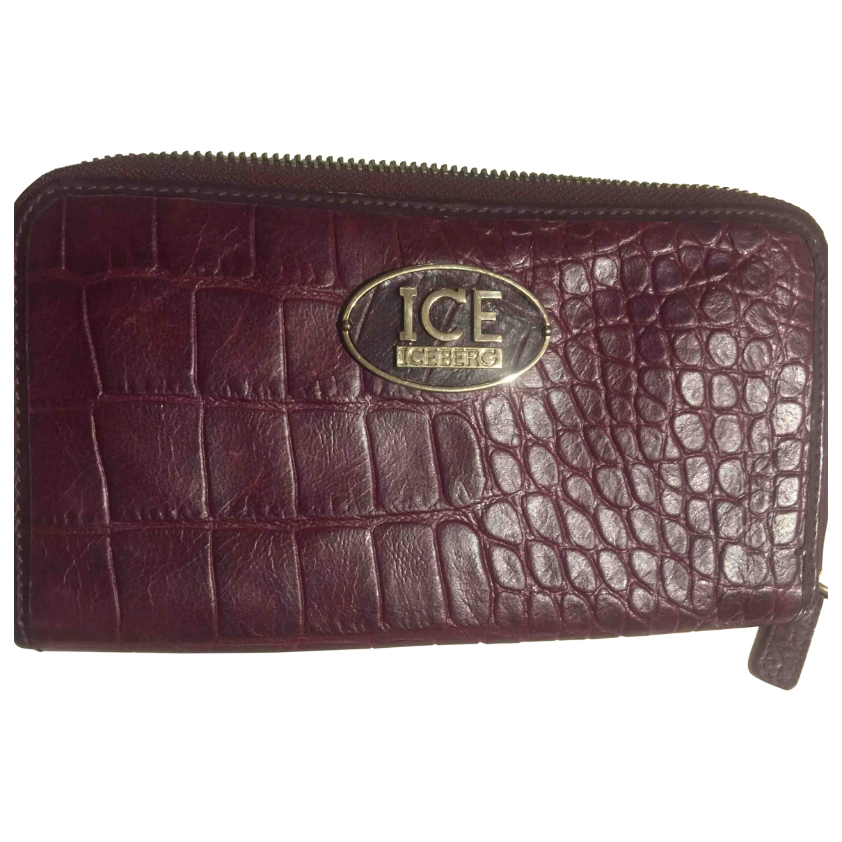 Iceberg \N Burgundy Leather wallet for Women \N