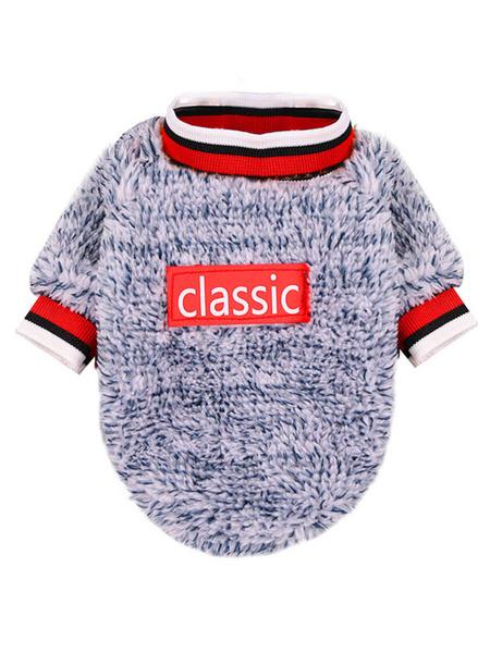 Milanoo Coral Fleece Pet Sweater Print Pet Clothes