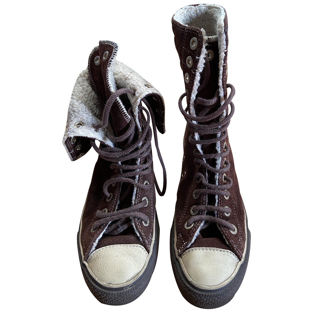Converse \N Brown Suede Ankle boots for Women 38 EU