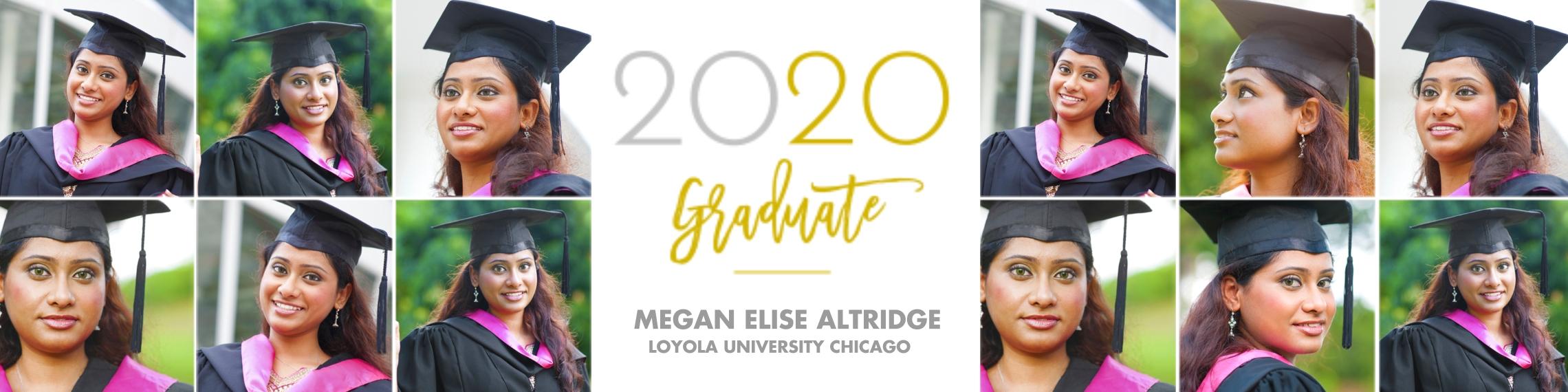 Graduation Photo Banner 2x8, Home Décor -Modern Classic Graduate