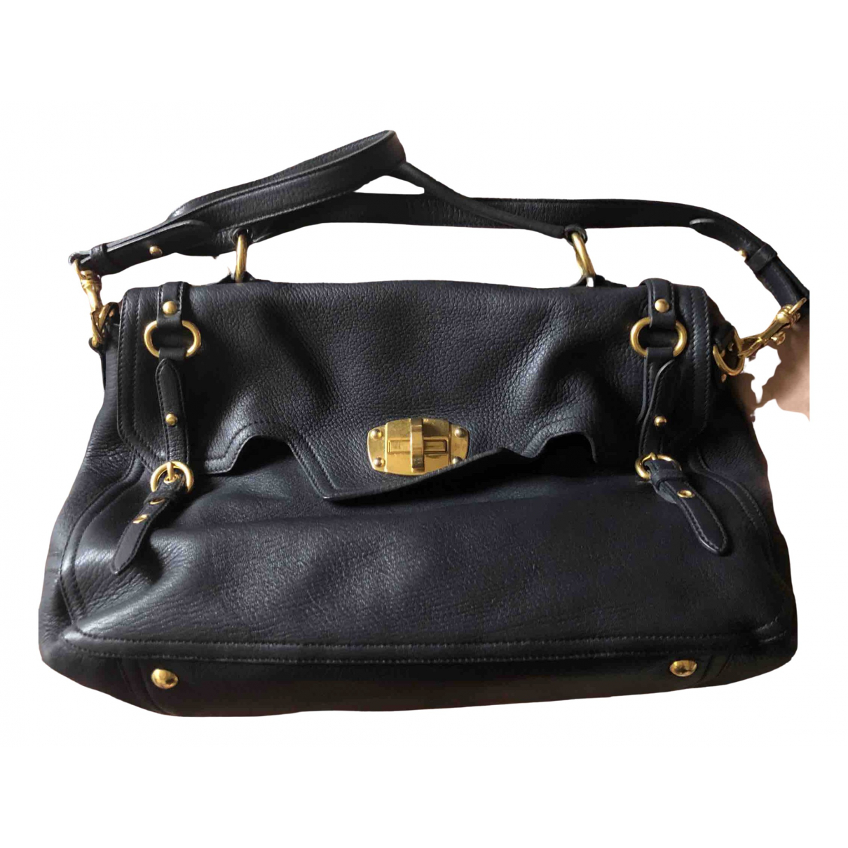Miu Miu \N Navy Leather handbag for Women \N