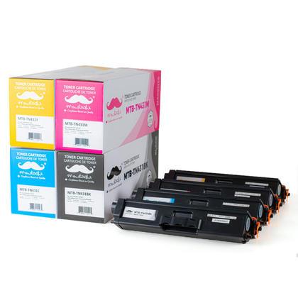 Compatible Brother TN431 Toner Cartridges BK/C/M/Y 4-color Combo