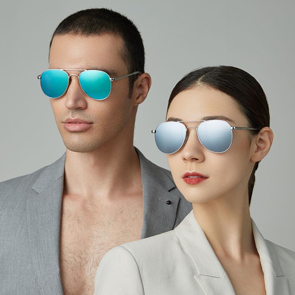 Unisex Casula Fashion Full Metal Frame Narrow Rim Elegant UV Protection Sunglasses