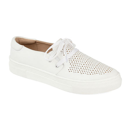 Journee Collection Womens Shantel Slip-On Shoe, 10 Medium, White
