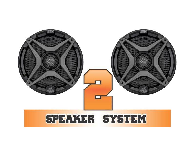 SSV Works RZR-2 Complete 2 Speaker System Polaris RZR 900 11-18