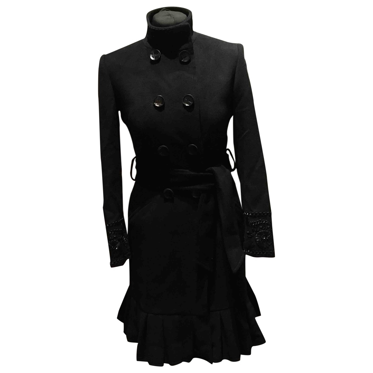 Blumarine \N Black Wool coat for Women 40 IT
