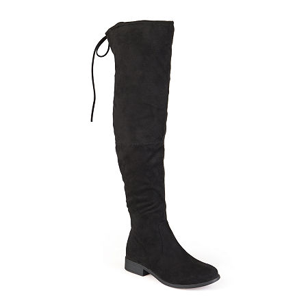 Journee Collection Womens Mount Wide Calf Over-the-Knee Boots, 7 Medium, Black