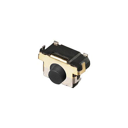 Panasonic Grey Side Tactile Switch, Single Pole Single Throw (SPST) 10 μA → 20 mA 0.85mm Edge Mount