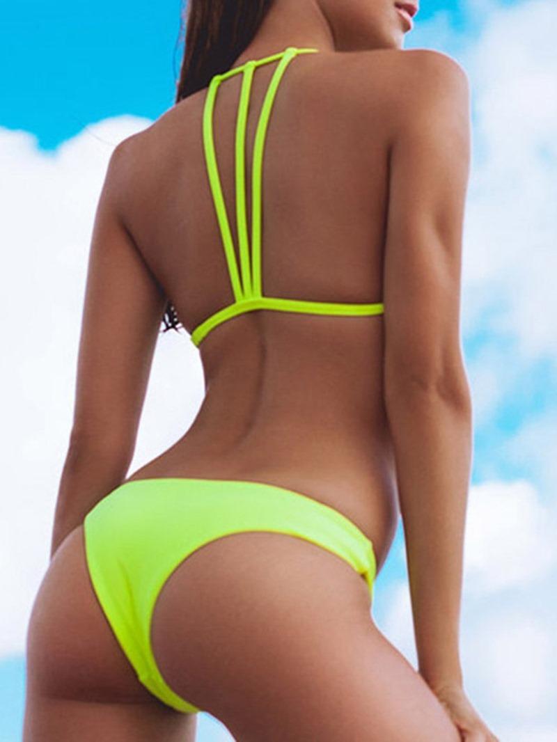 Ericdress Tankini Set Plain Western Swimwear