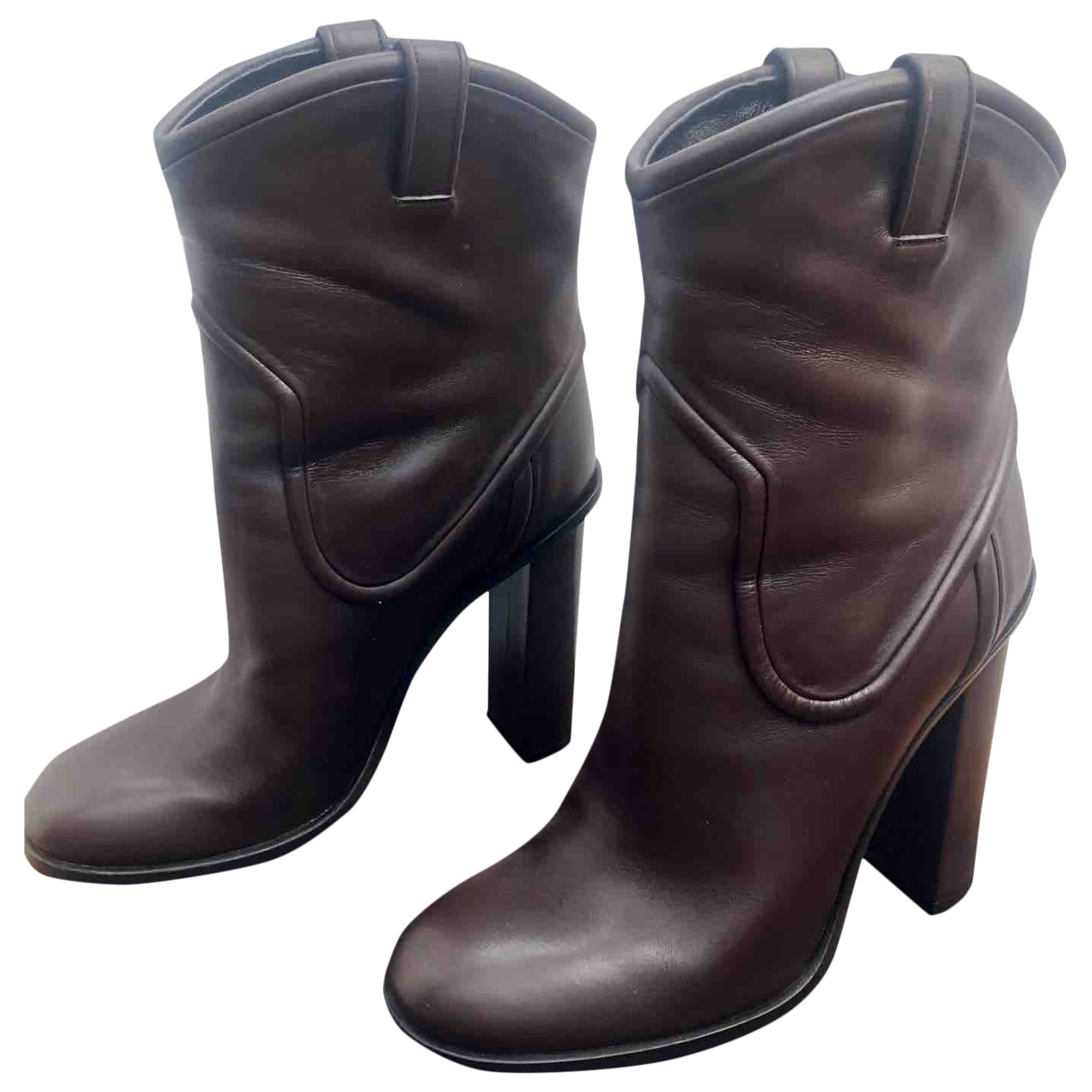 Gucci \N Brown Leather Boots for Women 40 EU