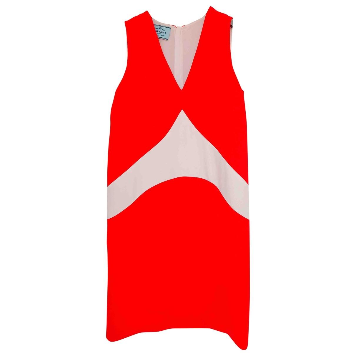 Prada \N Red Wool dress for Women 42 IT
