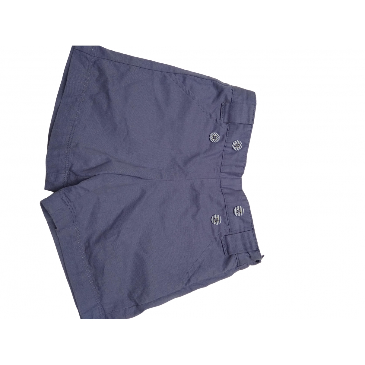 Cyrillus \N Blue Cotton Shorts for Kids 4 years - up to 102cm FR