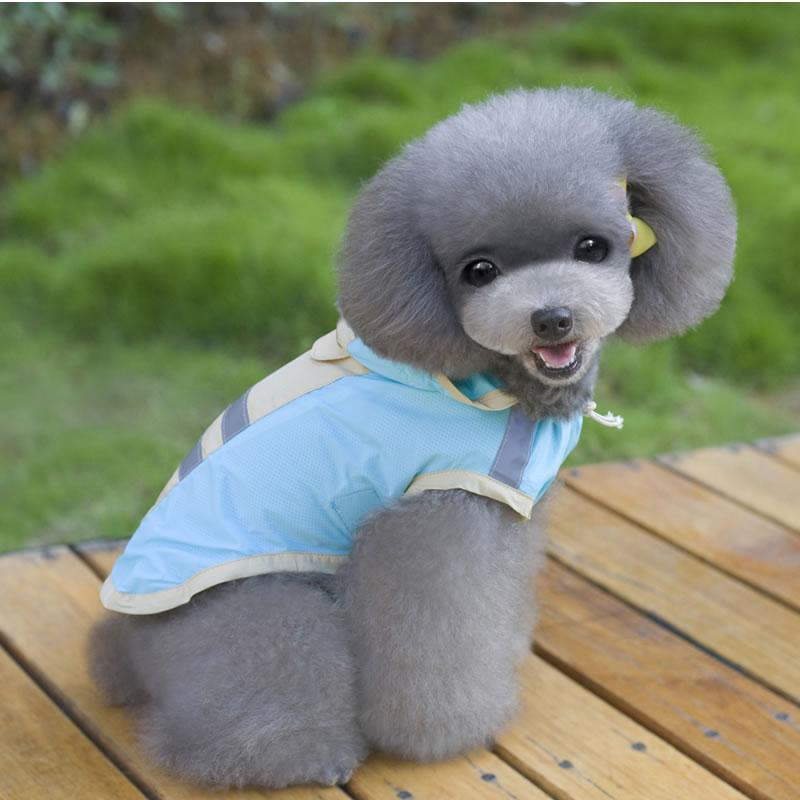 Waterproof Light Pet Costumes For Blue Pink Dog Raincoat
