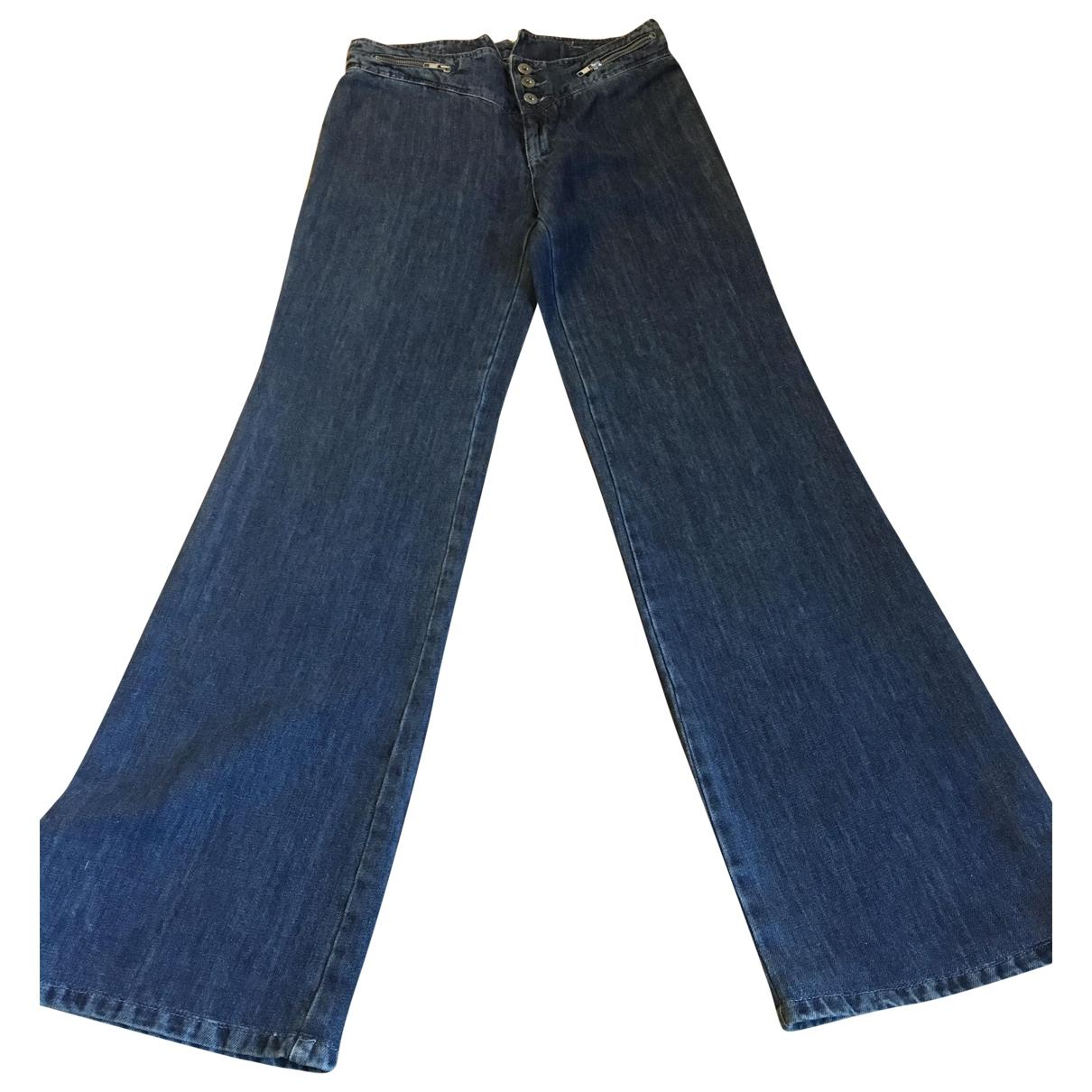 Paul & Joe \N Blue Cotton Trousers for Women 38 FR