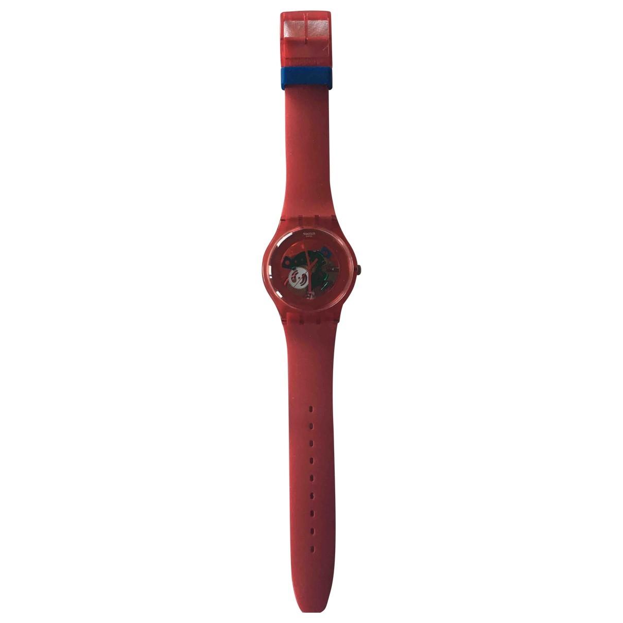 Swatch \N Red Steel watch for Women \N