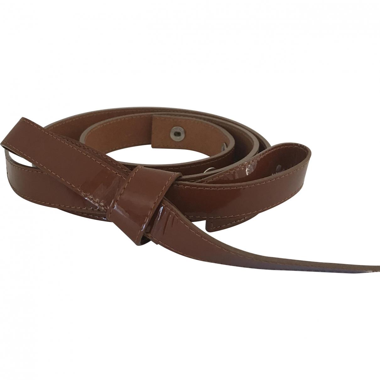 Sonia Rykiel \N Camel Patent leather belt for Women M International