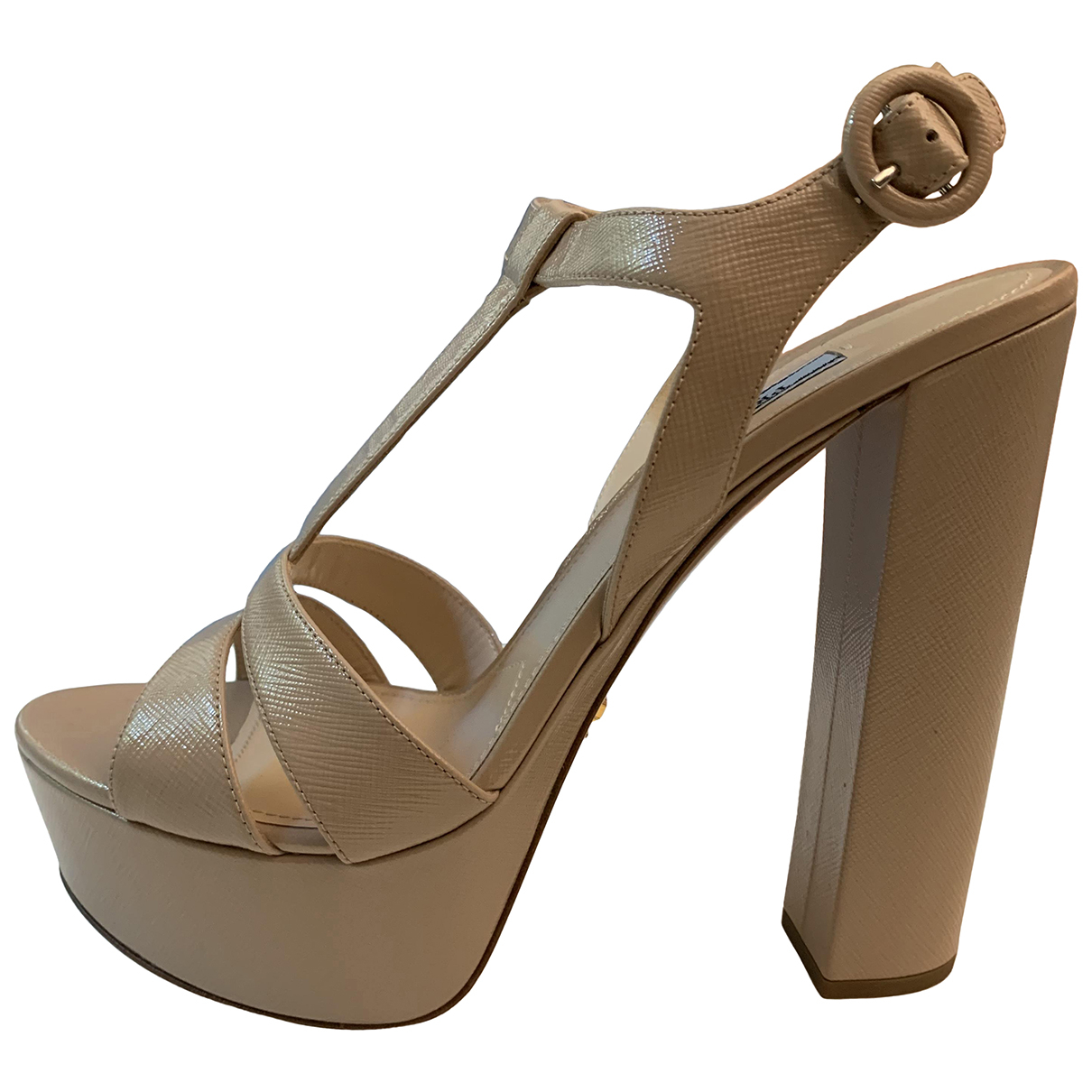 Prada N Beige Leather Sandals for Women 41 EU