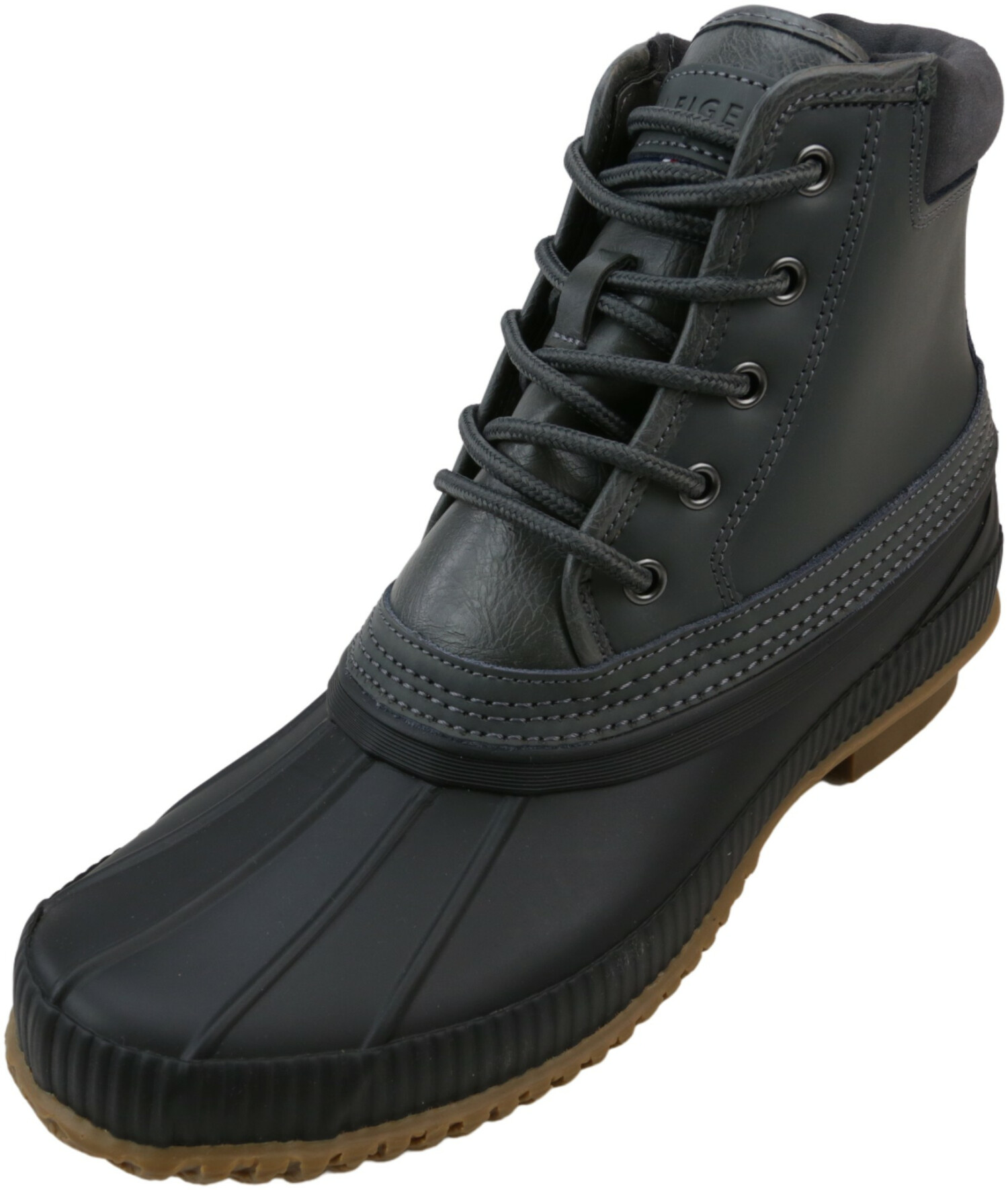 Tommy Hilfiger Men's Casey Dark Grey Ankle-High Leather Boot - 9M