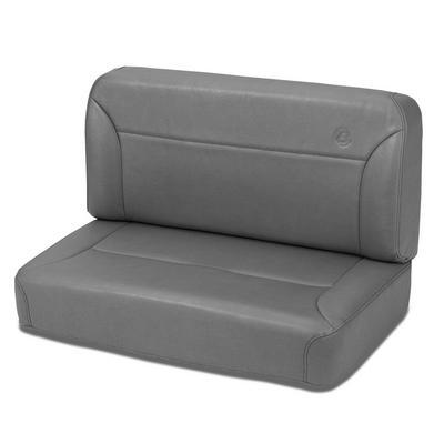 Bestop Trailmax II Vinyl Fixed Rear Bench Seat (Gray) - 39437-09