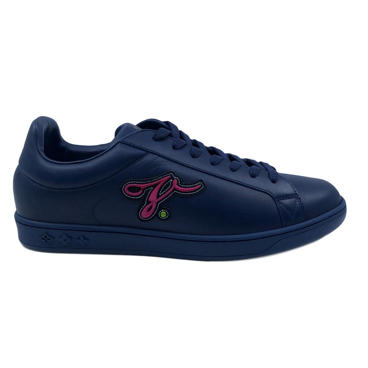 Louis Vuitton \N Navy Leather Trainers for Men 9 UK