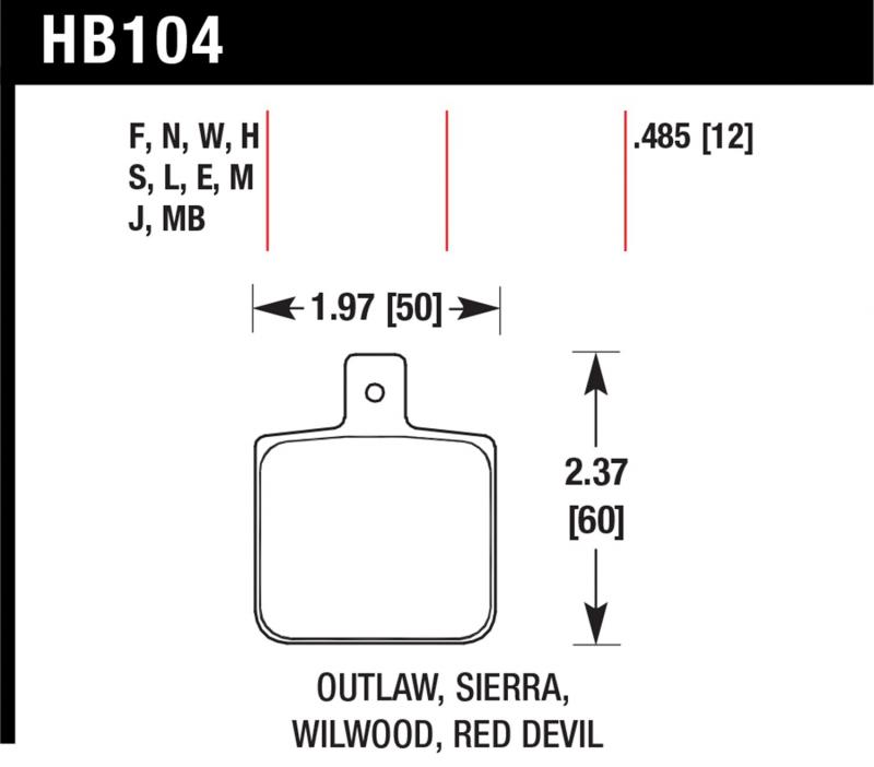 Hawk Performance HB104S.485 Disc Brake Pad