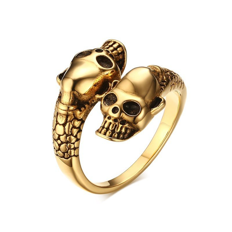 Men's Stainless Steel Ring Skull Punk Men Jewelry