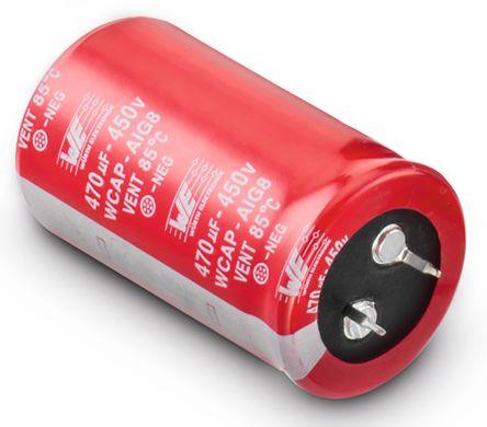 Wurth Elektronik 180μF Electrolytic Capacitor 450V dc, Through Hole - 861011485015