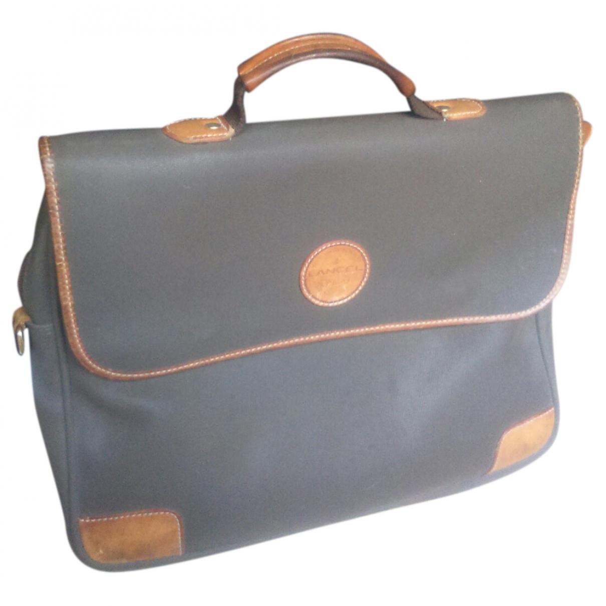 Lancel \N Brown Cloth bag for Men \N