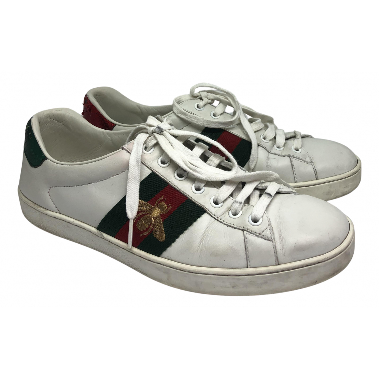 Gucci Ace White Leather Trainers for Men 40.5 EU