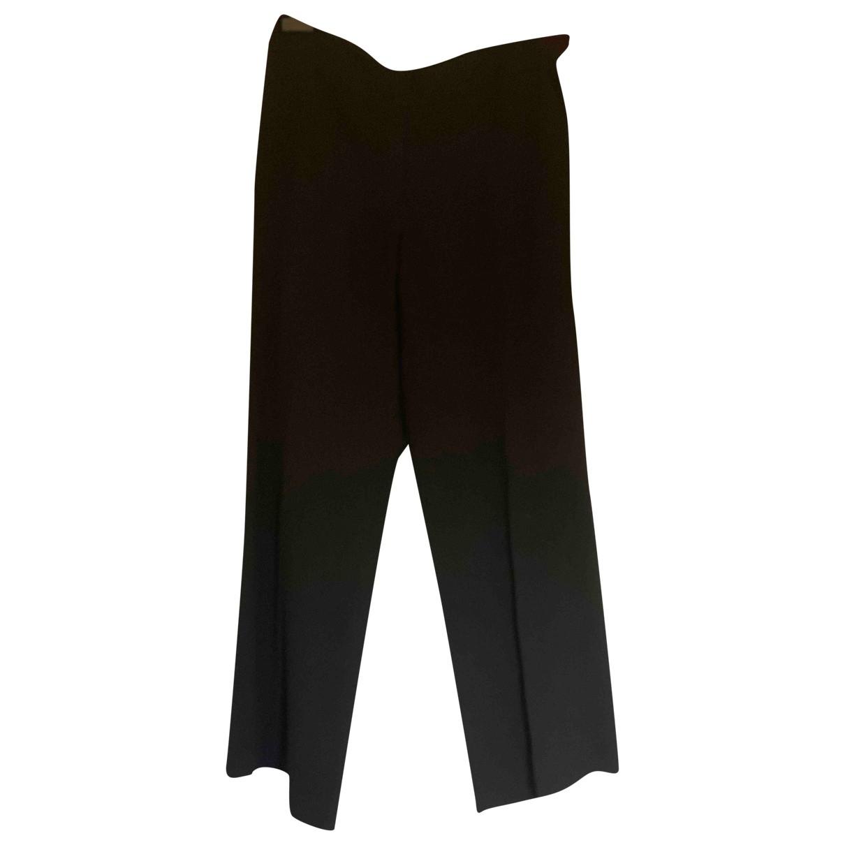 Emporio Armani \N Black Trousers for Women 40 FR