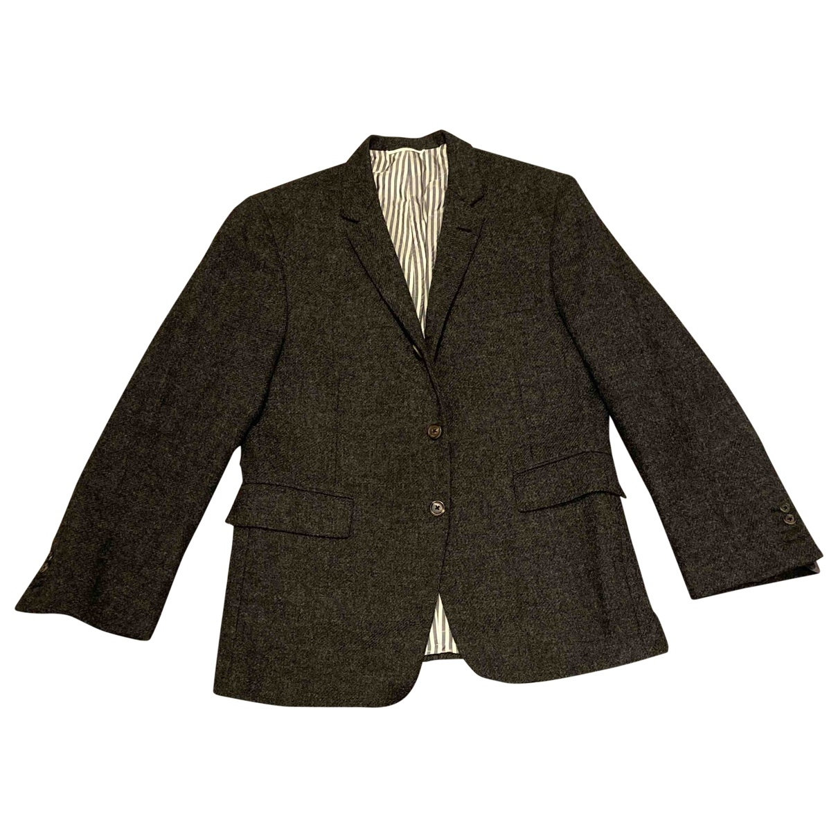 Thom Browne \N Anthracite Wool jacket  for Men M International
