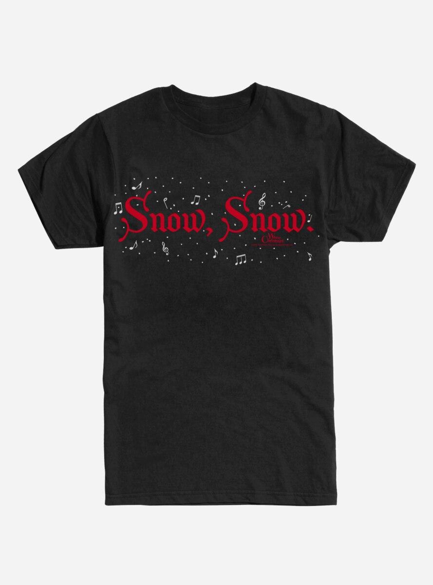 White Christmas Snow Snow T-Shirt