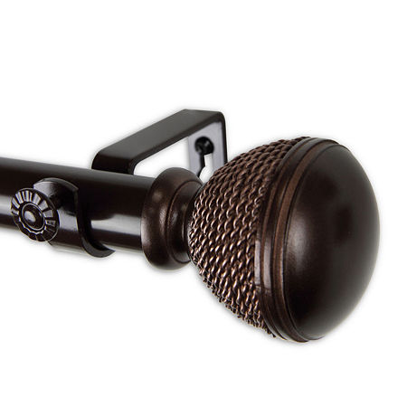 Rod Desyne Braided 1 IN Curtain Rod, One Size , Brown