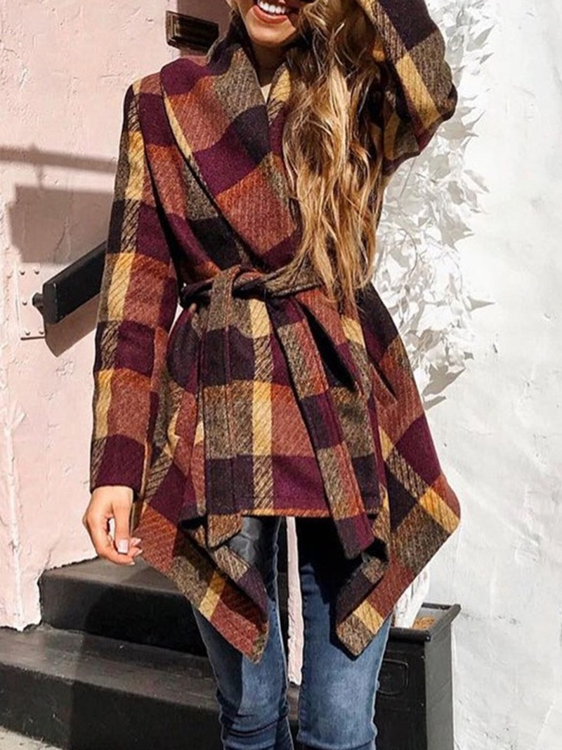Ericdress Loose Lace-Up Lace-Up Mid-Length Winter Women's Overcoat
