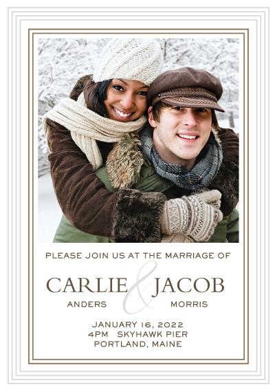 Wedding Invitations 5x7 Cards, Premium Cardstock 120lb with Elegant Corners, Card & Stationery -Classic Composite