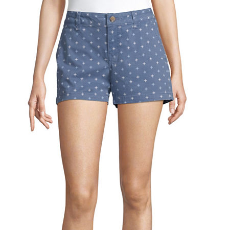 a.n.a Womens 3.5'' Chino Short, 4 , Blue